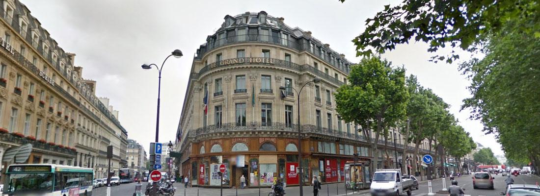 Aménagement du Grand Hôtel à Paris - Maître d'oeuvre